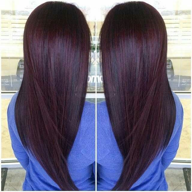 Women S Dark Chocolate Cherry Color Using Red Pure Pigment And V B