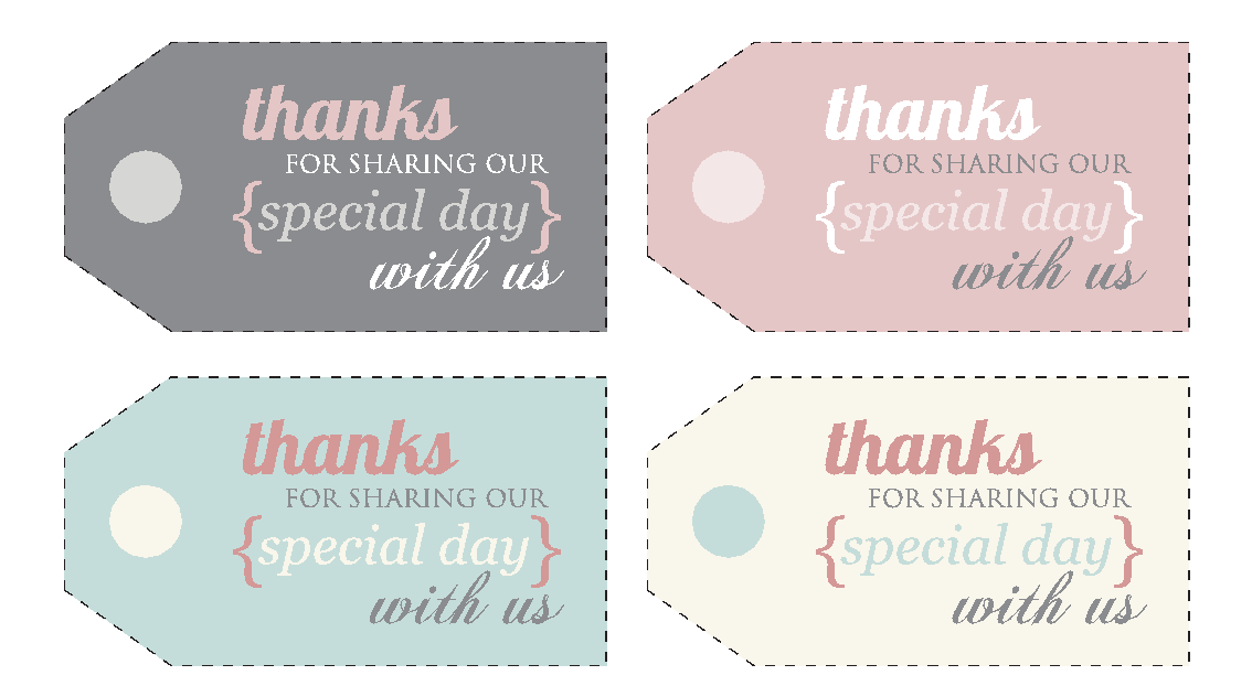 Free Printable Wedding Gift Tags: Free Printable Thank You Labels For Favors