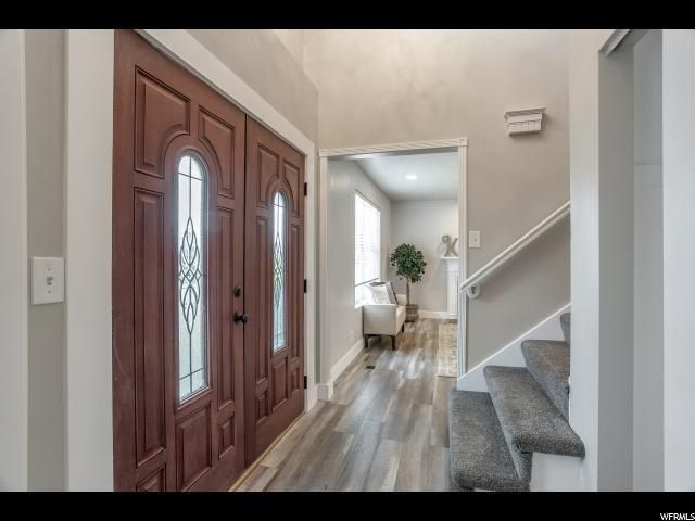 Newly remodeled entryway in a flipped house in Sandy Utah ...