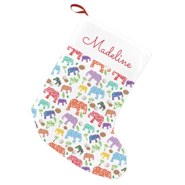 #promo Tropical Elephants   Add Your Name Small Christmas Stocking #zname #add #your #name #africa #SmallChristmasStocking #affiliatelink #christmasstocking