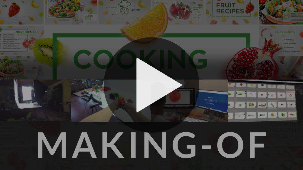 Cooking Healthy Food   Motion graphics and Template