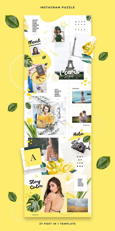 Instagram Puzzle Hola on Behance imagens) Idéias