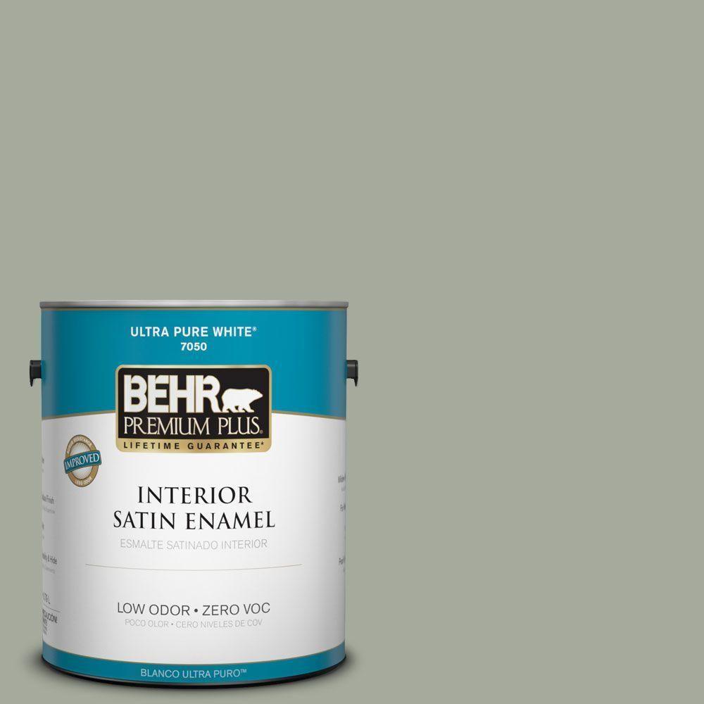 BEHR Premium Plus Home Decorators Collection 1-gal. #hdc-AC-18 Garden Promenade Zero VOC Satin Enamel Interior Paint