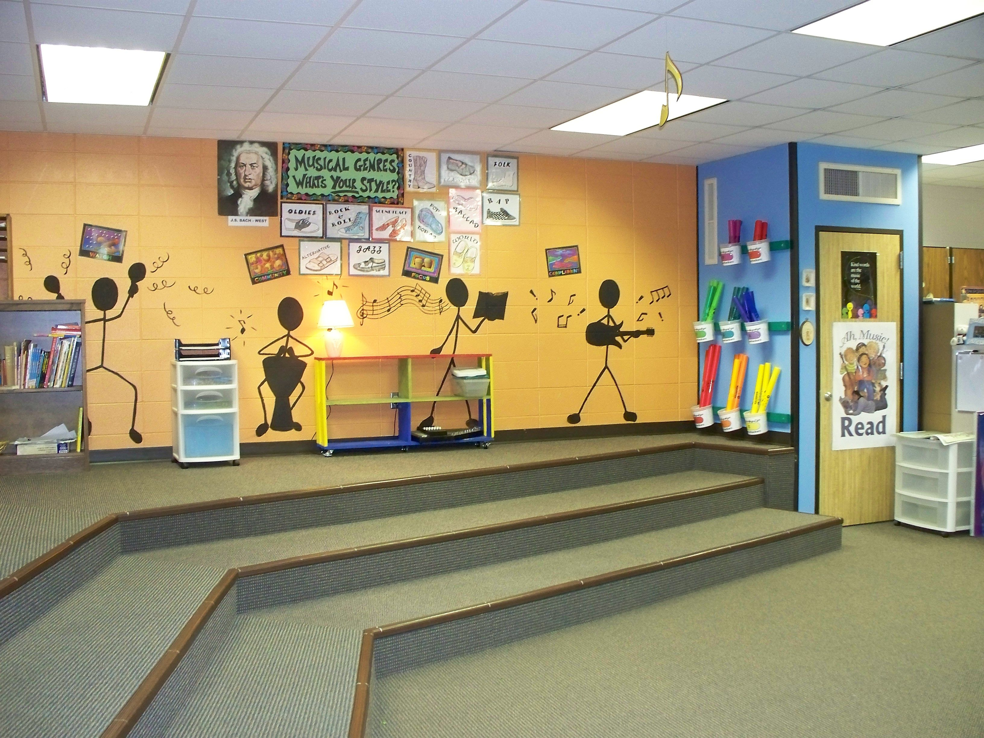 Music room organization idea