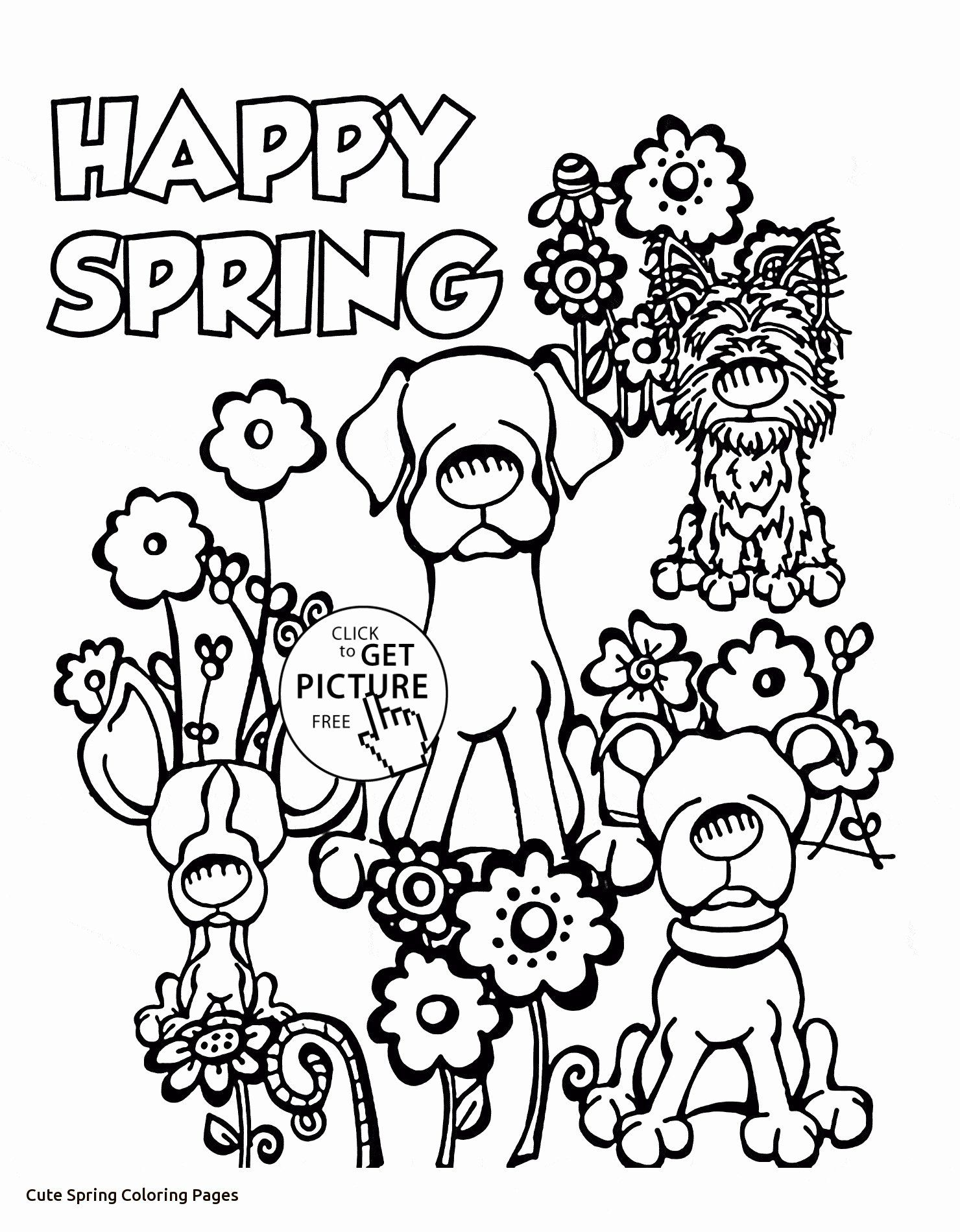 Spring Coloring Pages Free Printable Elegant Coloring Pages Cute Spring Coloring Springti In 2020 Spring Coloring Pages Spring Coloring Sheets Preschool Coloring Pages