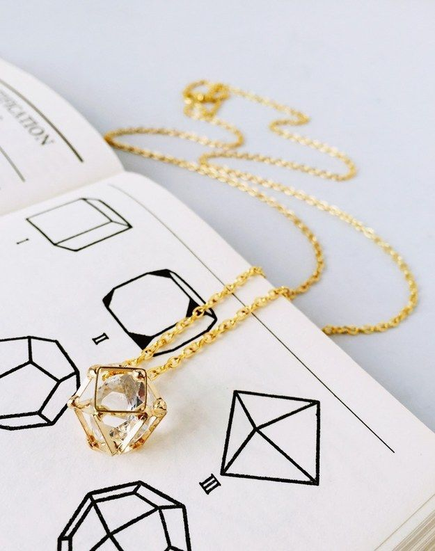 This gorgeously geometric polyhedron necklace. | 17 Tiny Necklaces For Your Inner Scientist