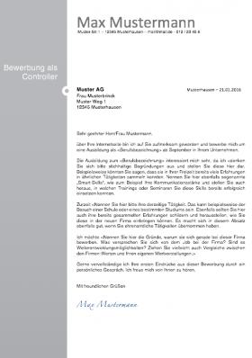 Bewerbungsanschreiben Vorlagen Muster 2021 Spirofrog 5