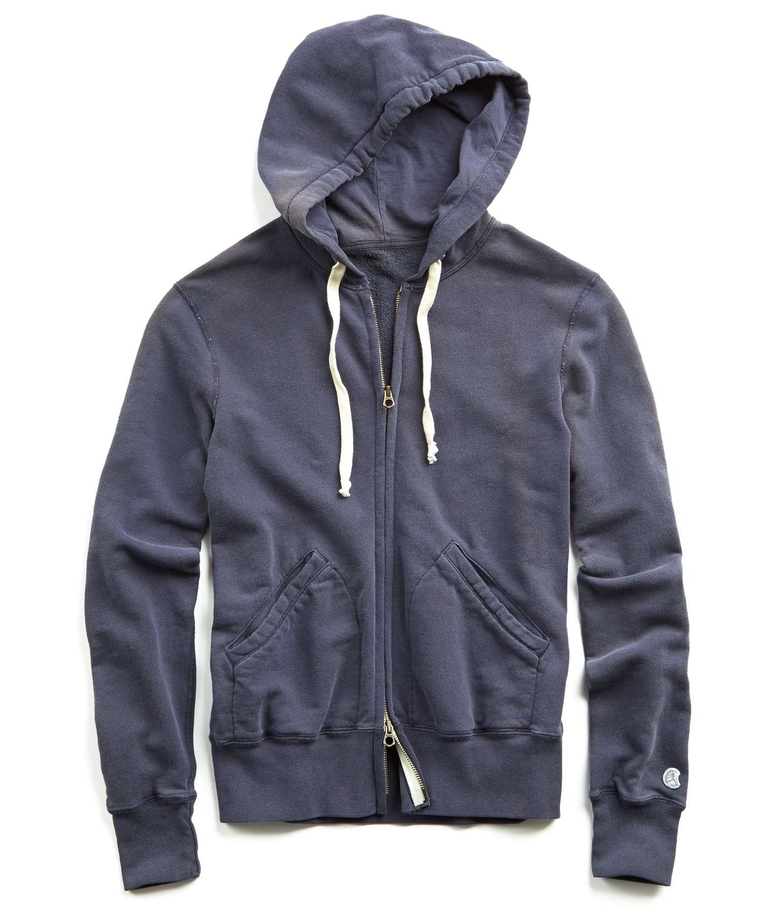 6658d5164096 TODD SNYDER Classic Full Zip Hoodie in Navy.  toddsnyder  cloth