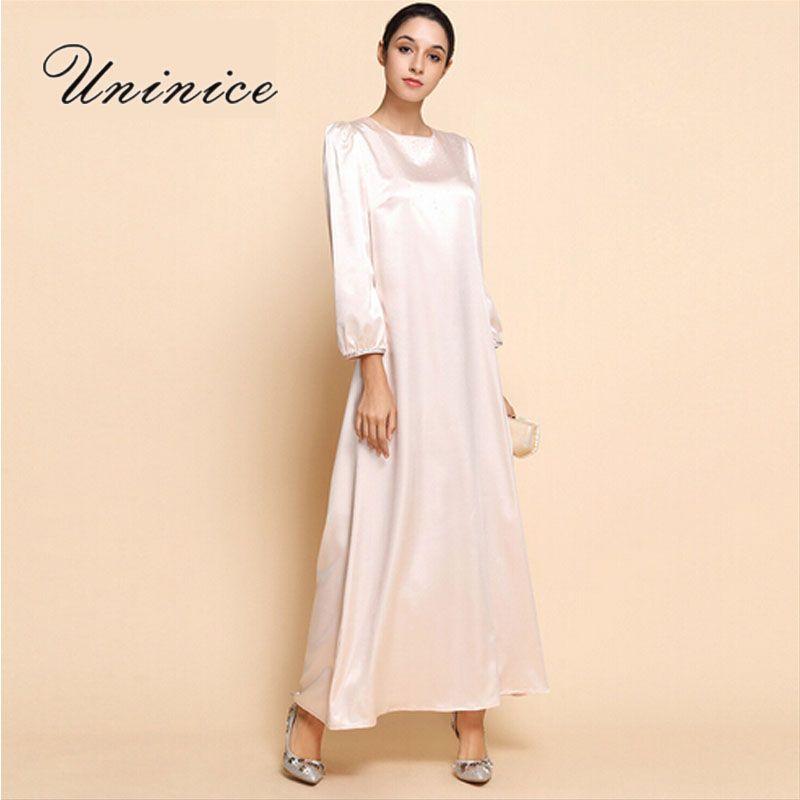 UNINICE Plus Size Women Muslim Dress Islamic Clothing Abaya Dubai ...