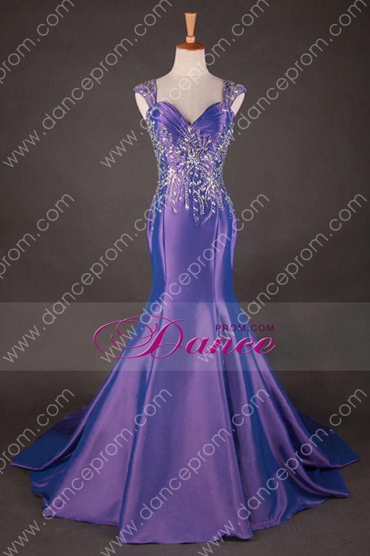 Off The Shoulder Court Train Mermaid Fancy Prom Dresses