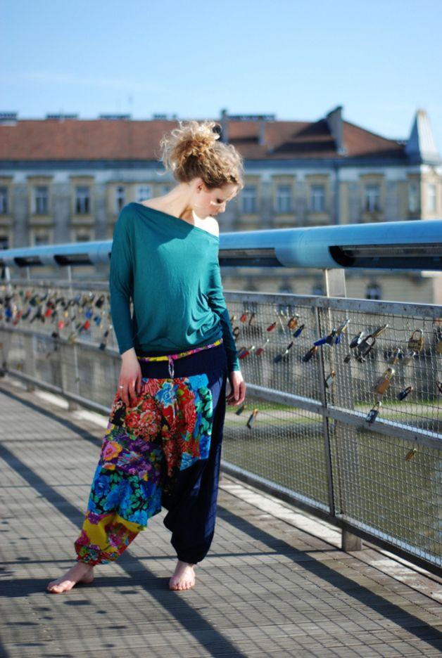 Szarawary Alladynki Spodnie Baggy Joga Etniczne Harem Pants Fashion Style