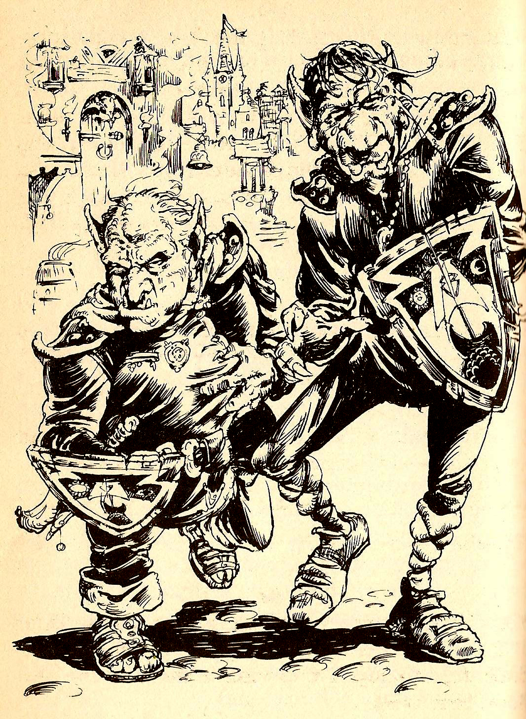 Sourbelly And Fatnose City Of Thieves Fighting Fantasy Gamebook Iain Mccaig Fighting Fantasy Books Fantasy Drawings Fantasy Artwork
