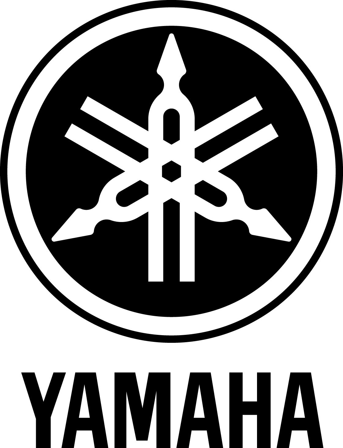 Yamaha's logo, like the company, has a fascinating background. The logo comprises of a tuning fork which is a creation o… | Logo de moto, Logo voiture, Motos yamaha