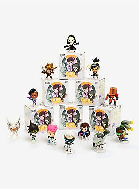 Overwatch Cute but Deadly Vinyl Mini Figures 7 cm Series 5 Display Blizzard 12