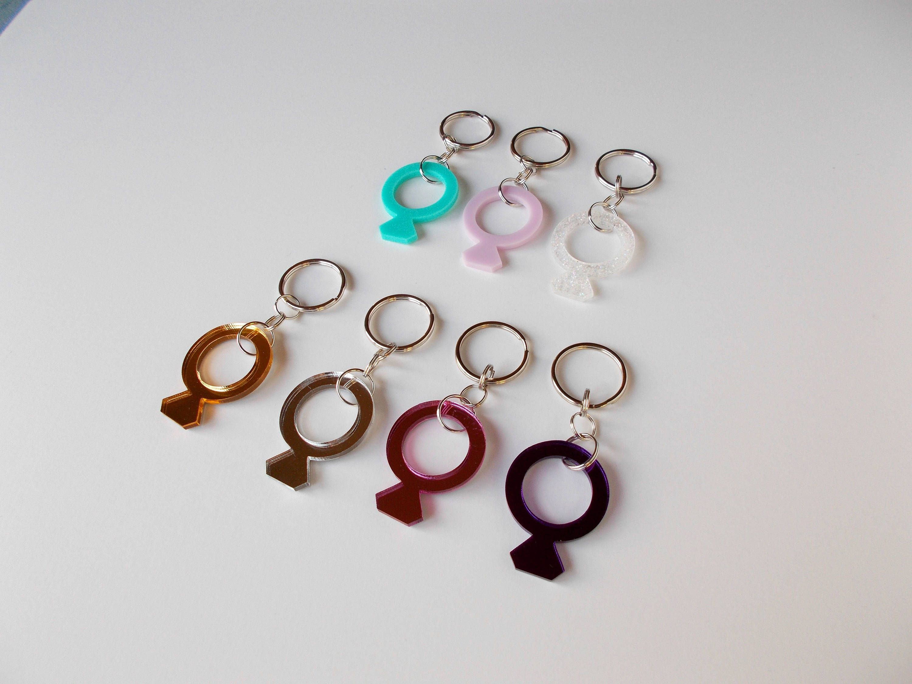 Acrylic Ring Keychain, Bachelorette Gifts, Bridal Shower