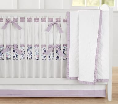 New Pottery Barn Kids Paisley Crib Sheet Floral Toddler Bed Lavender