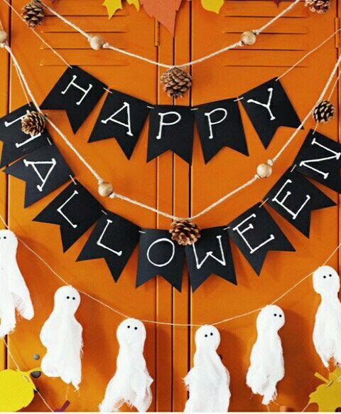 guirlande halloween et fantôme Halloween Pinterest - how to make halloween decorations for kids