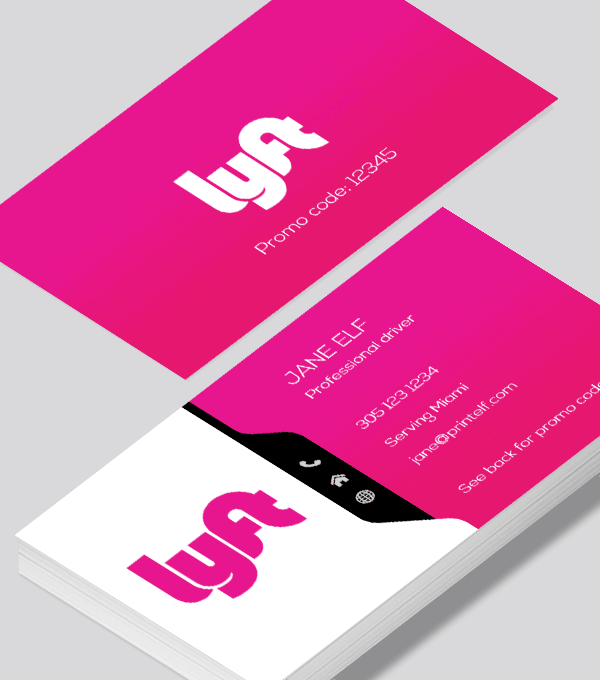 picture about Lyft Printable Logo titled A progressive Lyft enterprise card layout. This template can be