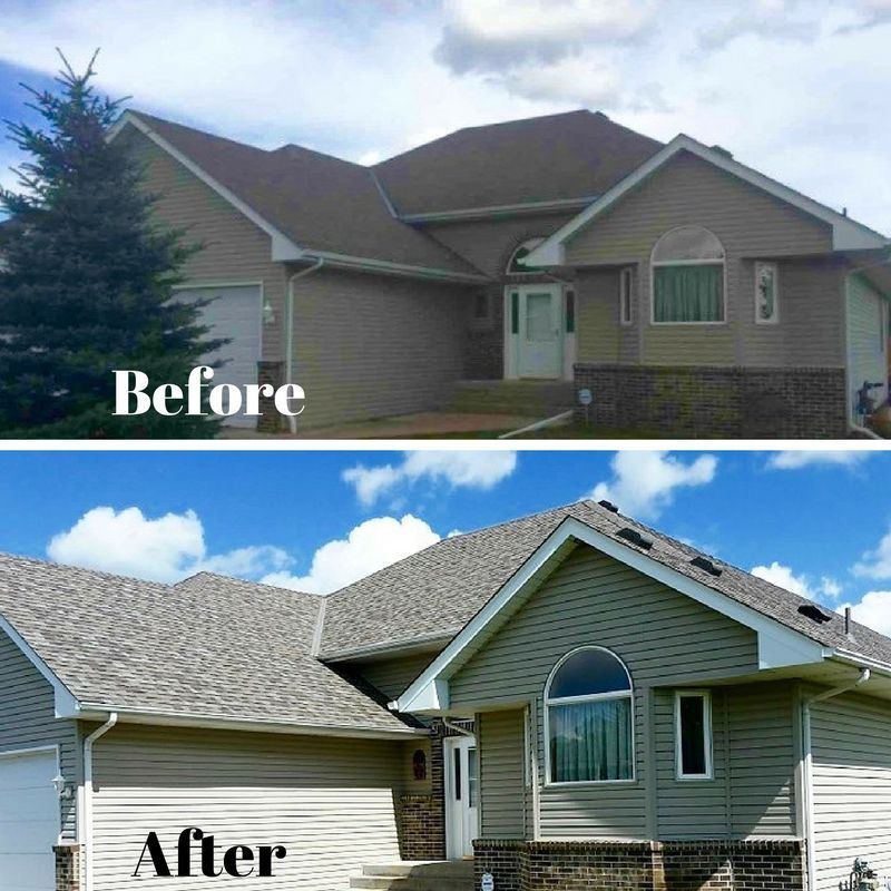 New Owens Corning Roof In Minnesota Makes Such A Difference House Styles Exterior Landmarks