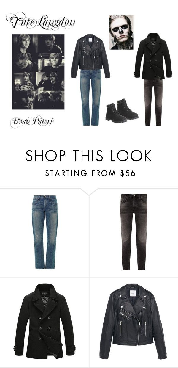 """""""Tate Langdon"""" by yellowfeet ❤ liked on Polyvore featuring interior, interiors, interior design, home, home decor, interior decorating, 3x1, Nudie Jeans Co., MANGO and Timberland"""