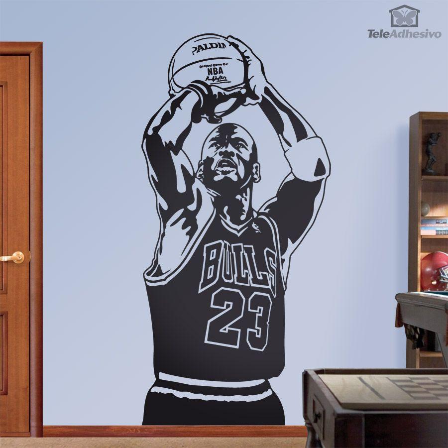 Vinilo Decorativo Jugador De Baloncesto Dibujos De Basquetbol