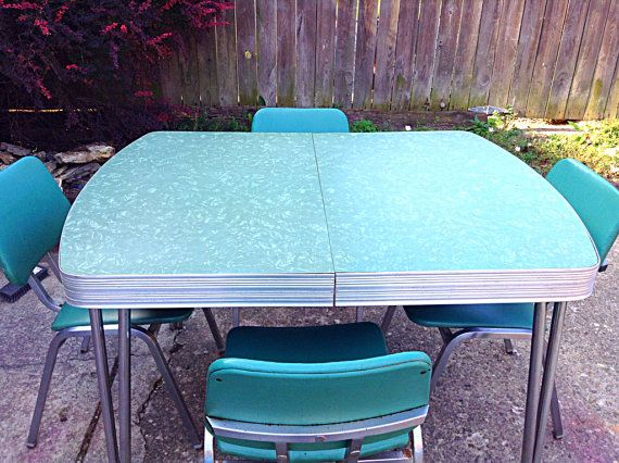 s MCM Douglas Furniture Co. Green Mother of Pearl Formica