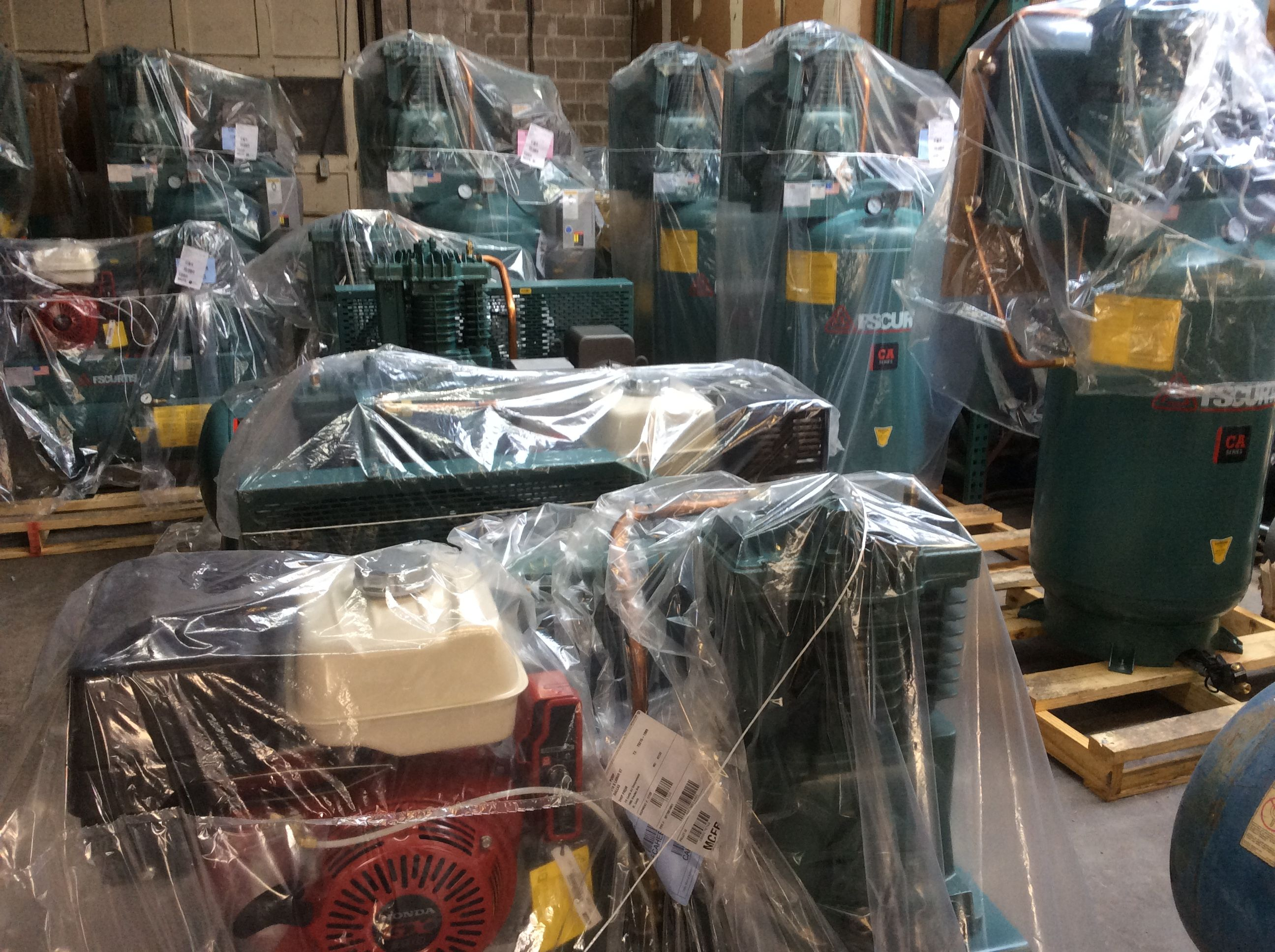 New shipment of Curtis Air compressors