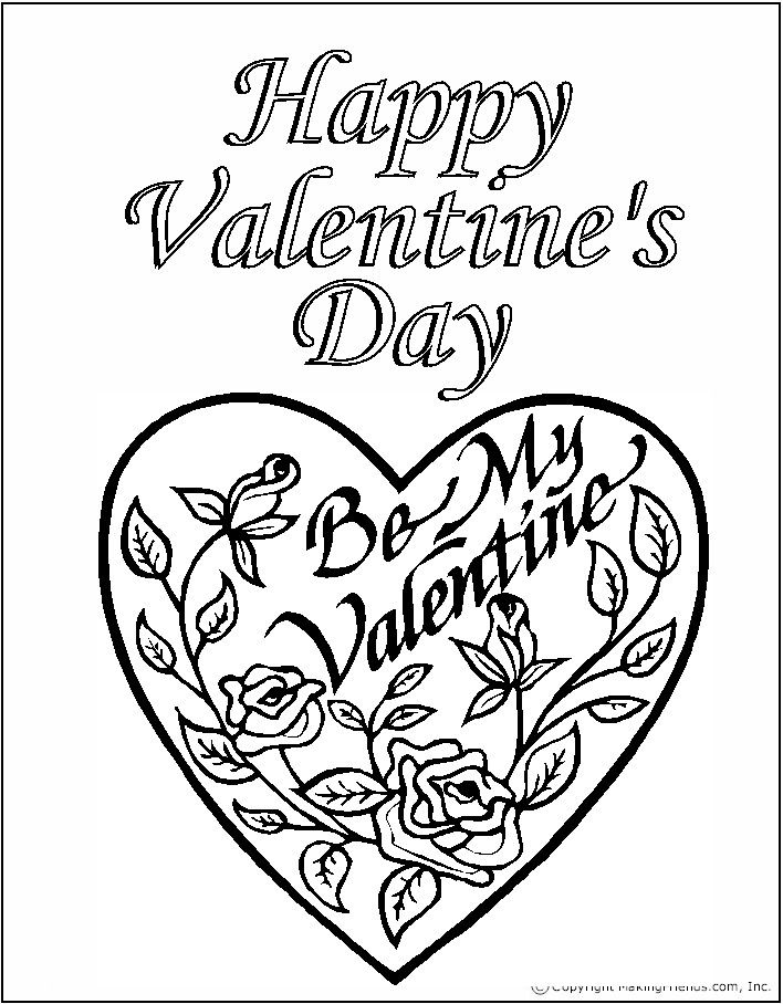 Makingfriends Com Printable Valentines Coloring Pages Valentines Day Coloring Page Valentines Day Drawing