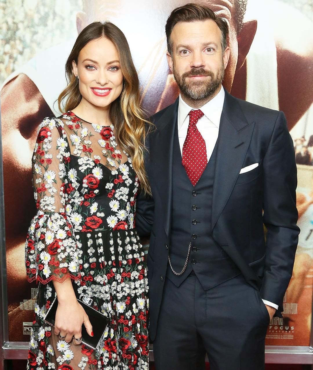 Us Weekly On Instagram Picture Perfect Couple Jasonsudeikis Had Support From Oliviawilde At A Screening Of His New Movi Jason Sudeikis Olivia Wilde Olivia