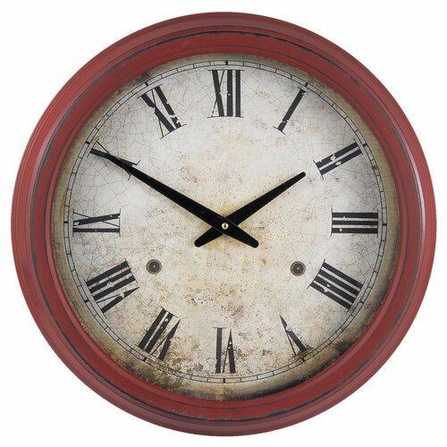 Apfel Clock O 41 10 Cm 1 Aa Three Posts Metal Clock Wall Clock Oversized Wall Clock