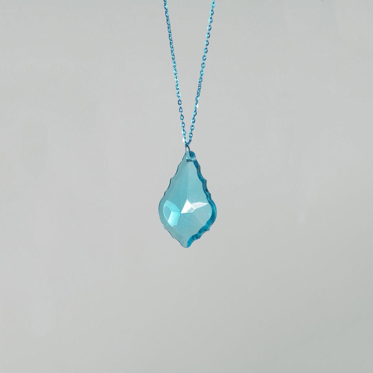 Fab.com | French Cut Necklace Light Blue