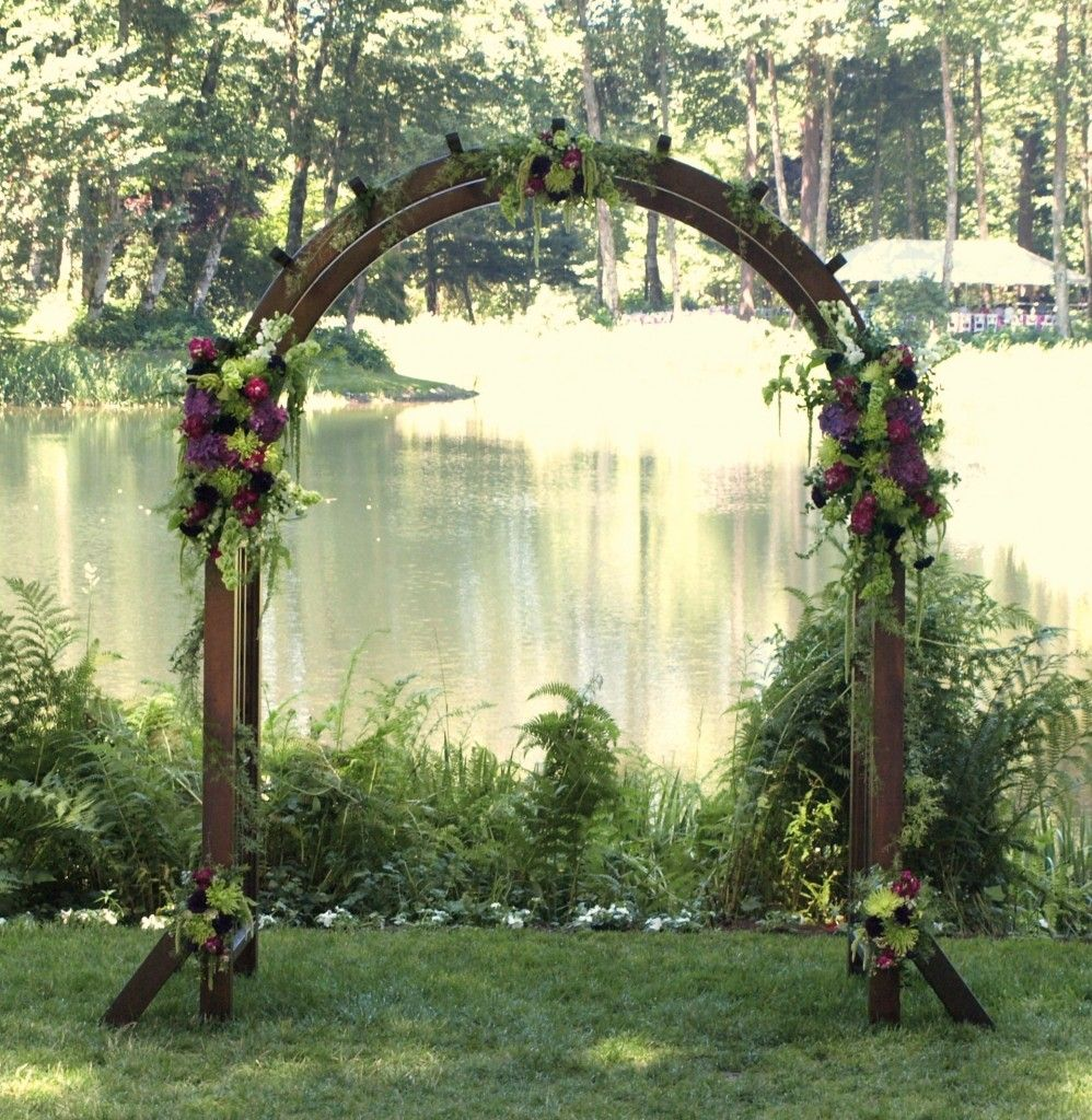 Wood Arch Decorations Ideas: Wood Arch With Floral Accents