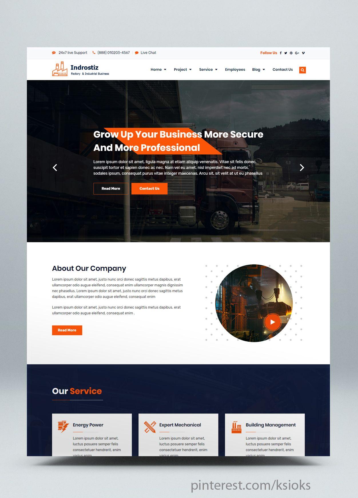 Factory Industrial Html Website Template Website Template Html Website Templates Templates