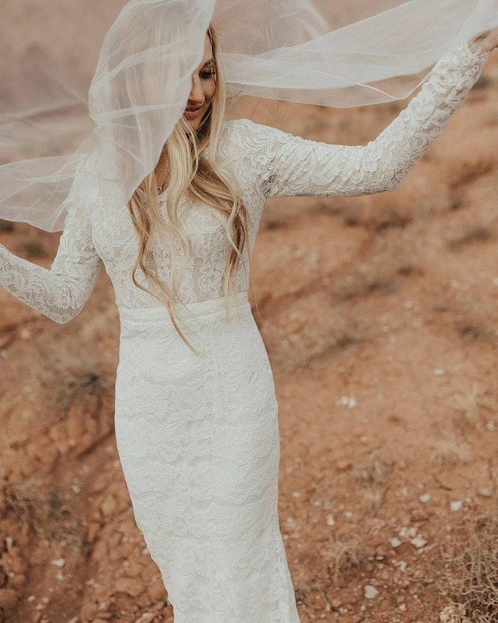 modest long sleeve wedding dress #weddingphoto #weddinginspiration #modestweddingdress #modestbride #weddinginspo #weddingdresses #engaged