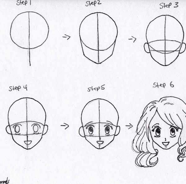 How To Draw Anime Characters Step By Step 30 Examples Anime Face Drawing Anime Drawings Tutorials How To Draw Anime Eyes