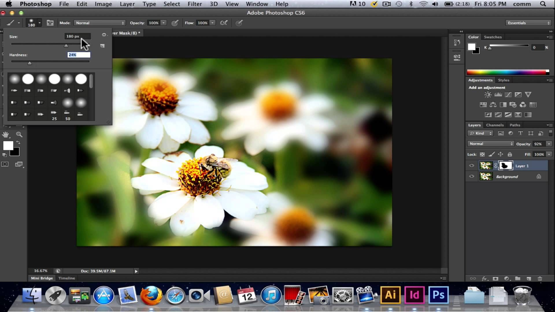 Controlling blur in photohsop cs6
