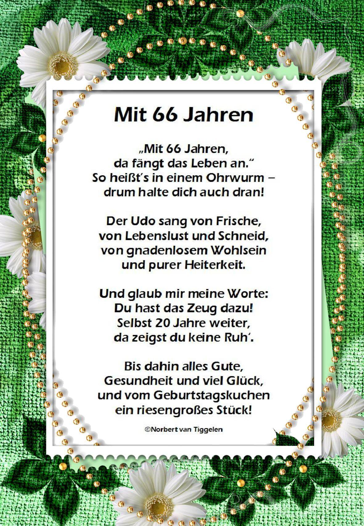 Gluckwunsch Zum 66 Geburtstag Happy Birthday