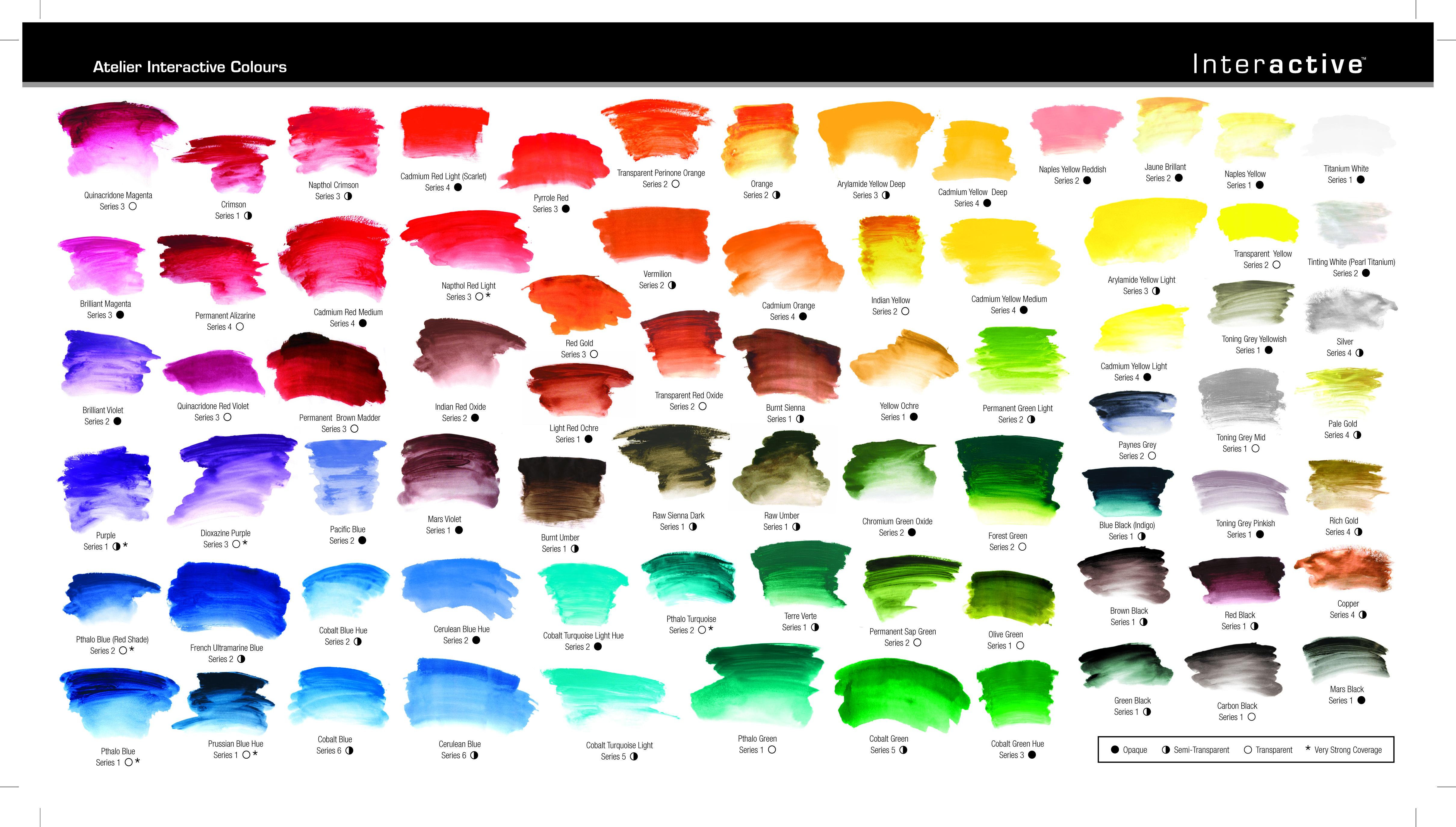 atelier interactive color chart atelier interactive pinterest