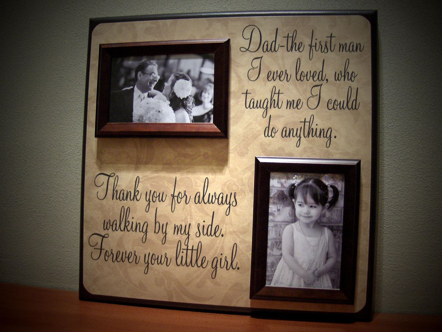 Father Gifts Wedding: Father Of The Bride Picture Frame Gift, Parent Wedding
