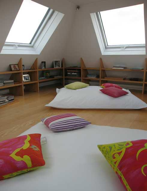 Chambre mansardée | Bureau | Pinterest | Attic, Bedrooms and Lofts