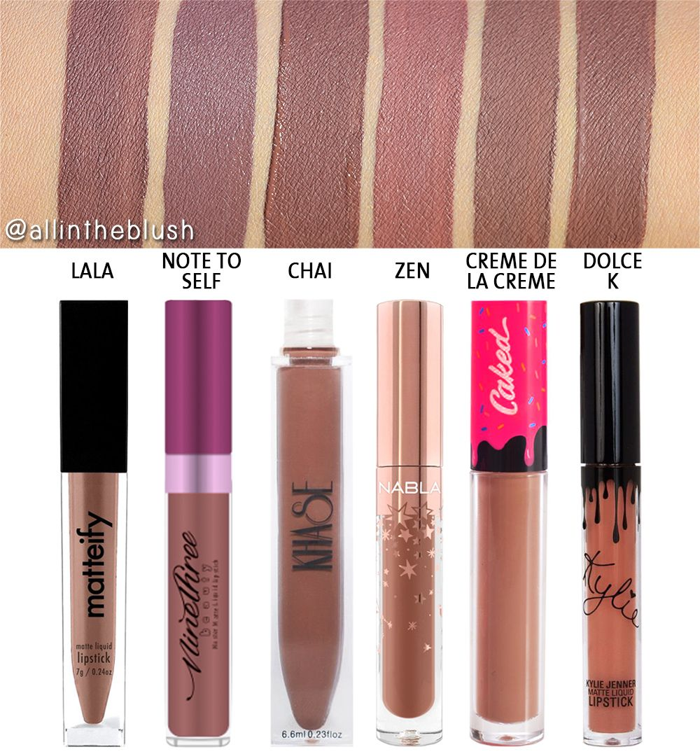 Kylie Cosmetics Dolce K Liquid Lipstick Dupes All In The Blush Kylie Cosmetics Dupes Lipstick Dupes Liquid Lipstick Dupes