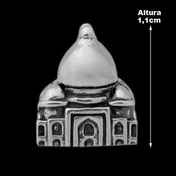 Berloque de Prata Taj Mahal (Pulseira Memories).