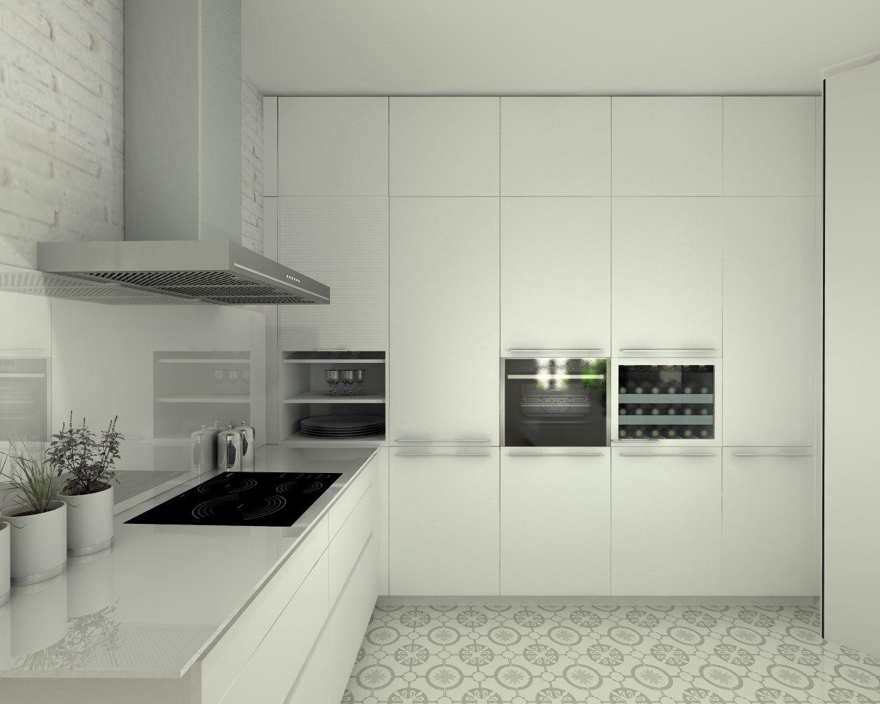Cocina santos modelo line estratificado blanco encimera - Docrys cocinas ...