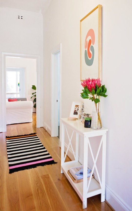Foyer Ideas For Apartments : Small ish hallways that are maxed out on style