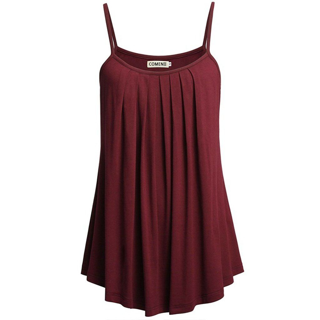Womens Fashion Plus Size Casual Solid Sleeveless Chiffon Flowy Tank Tops Camis