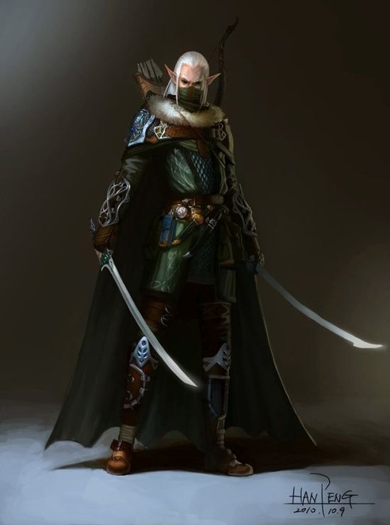 Wood Elf Ranger In 2019 Fantasy Art Elf Warrior