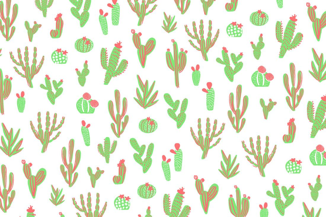 Download Now 6 New Desktop Smartphone Wallpapers Designed By Hello Lucky Cute Wallpapers For Computer Cute Desktop Wallpaper Cactus Backgrounds