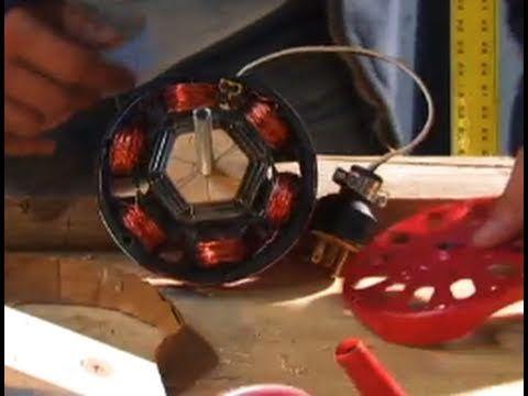Induction Motor Diy Hack Alternator 40 Watt Low 800 Rpm