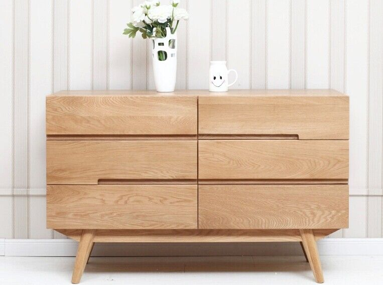 Japanese Pure Solid Wood Cabinet Six Bucket Cabinet Ikea Bedroom Furniture Simple White