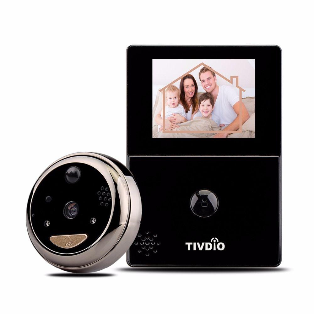 Tivdio videoportero wifi 2 8 pantalla oled de alta definici n monitor espectador de la puerta - Camara mirilla puerta wifi ...